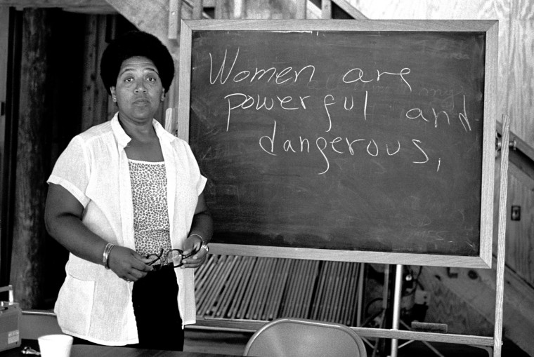 Author Audre Lorde.