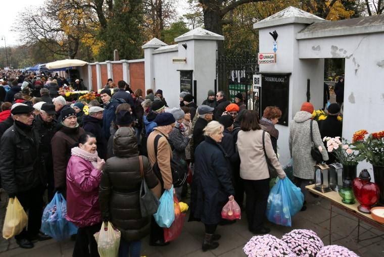 Image: Powazki Cemetery - All Saint's Day