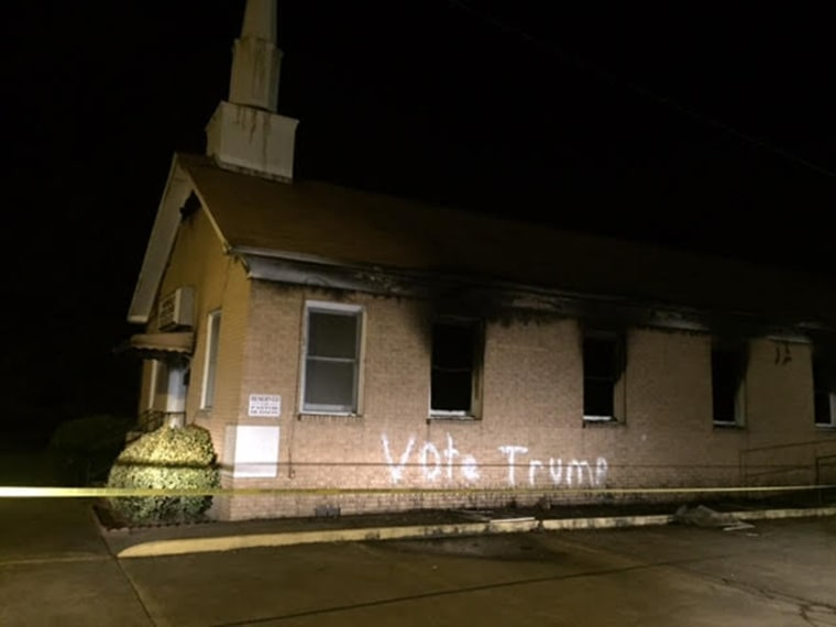 Image: A fire destroyed the Hope Well Baptist Church