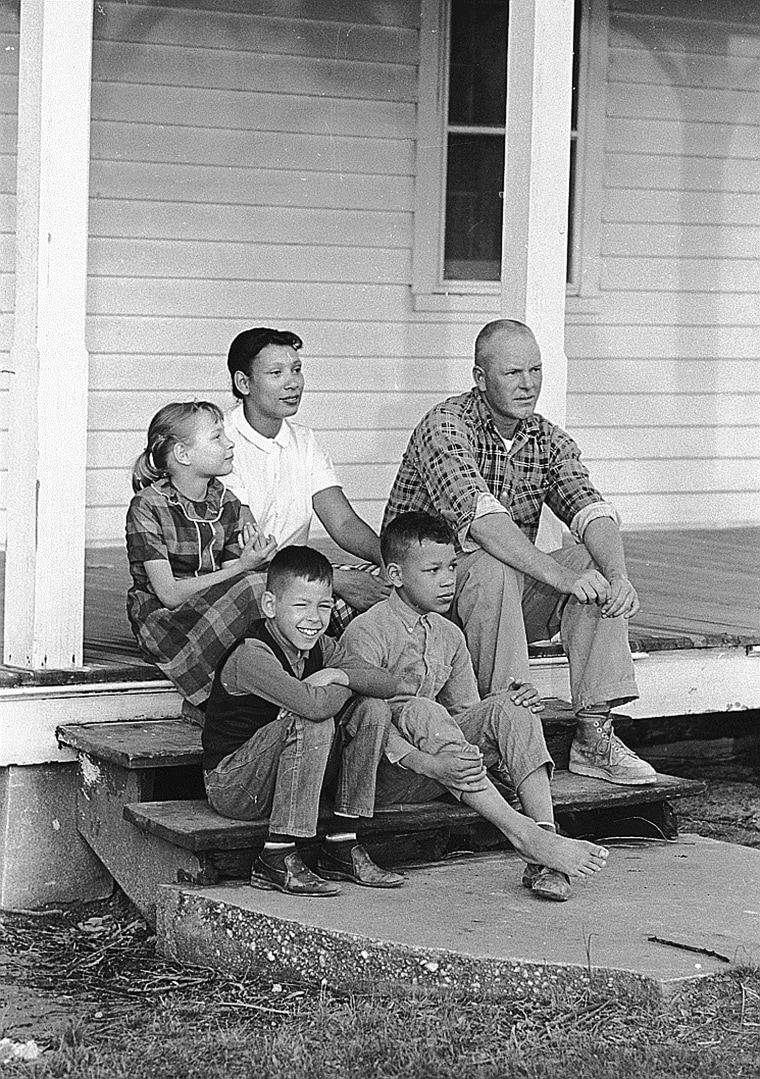 Image: Richard and Mildred Loving in 1967