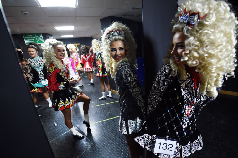 Image: BESTPIX - High Kicks At The All Ireland Irish Dancing Championships