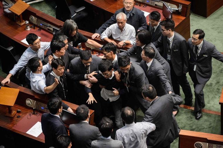 Image: TOPSHOT-HONG KONG-CHINA-POLITICS-INDEPENDENCE-DEMOCRACY