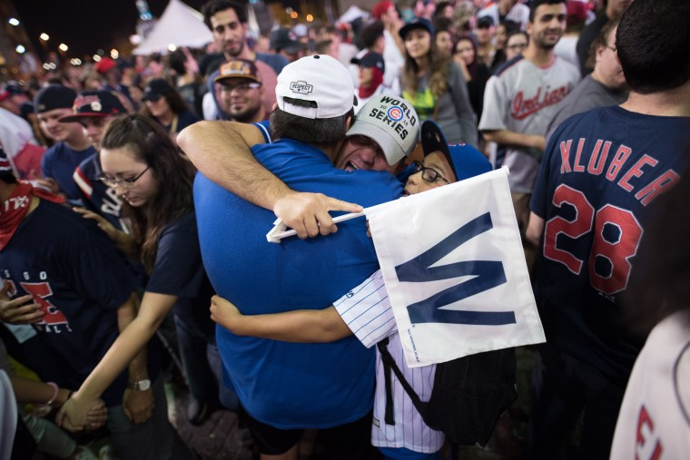 Image: Cleveland Indians Fans Gather To The Final Game Of World Series Against The Chicago Cubs