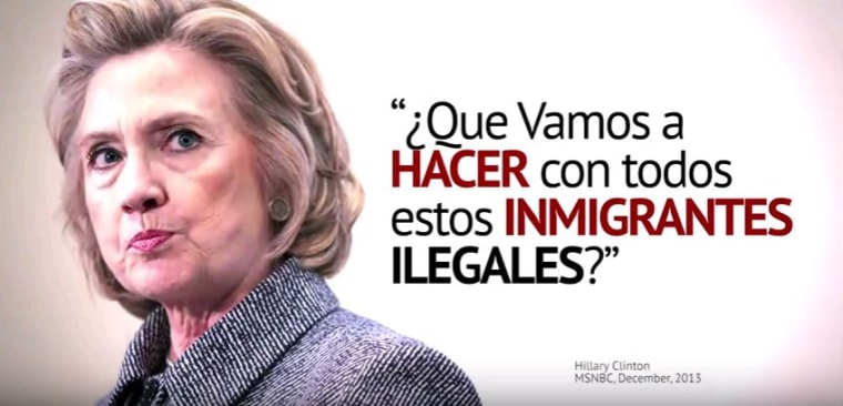 An ad by Republican super PAC Future45 criticizes Democratic presidential nominee Hillary Clinton for past remarks she made about illegal immigration.