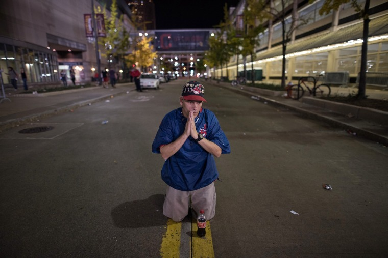 Image: BESTPIX Cleveland Indians Fans Gather To The Final Game Of World Series Against The Chicago Cubs