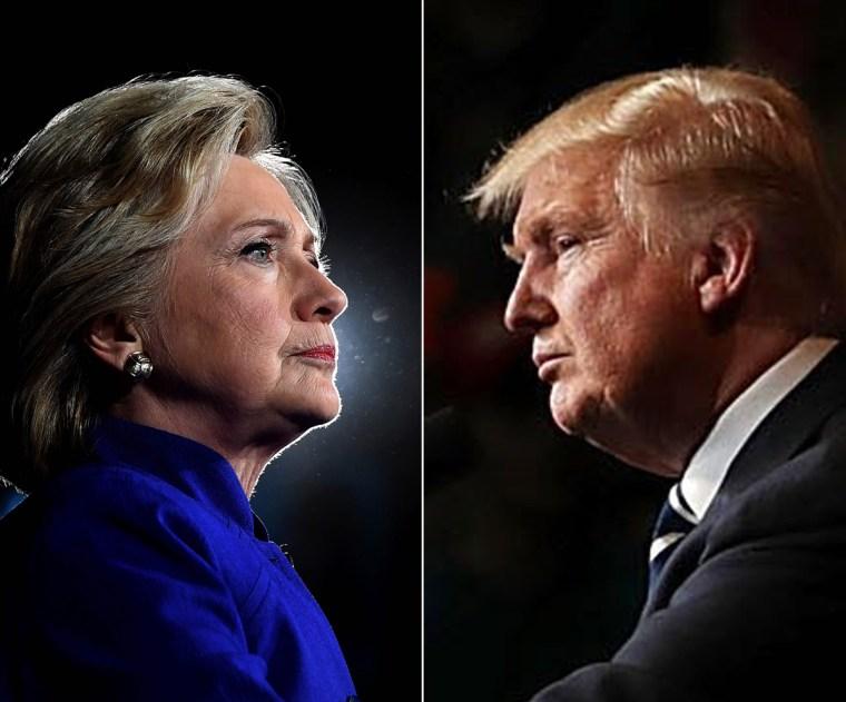 Image: Hillary Clinton and Donald Trump