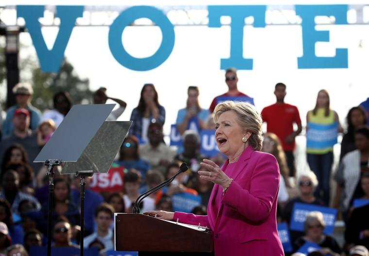 Image: Hillary Clinton Campaigns In North Carolina Ahead Of Election