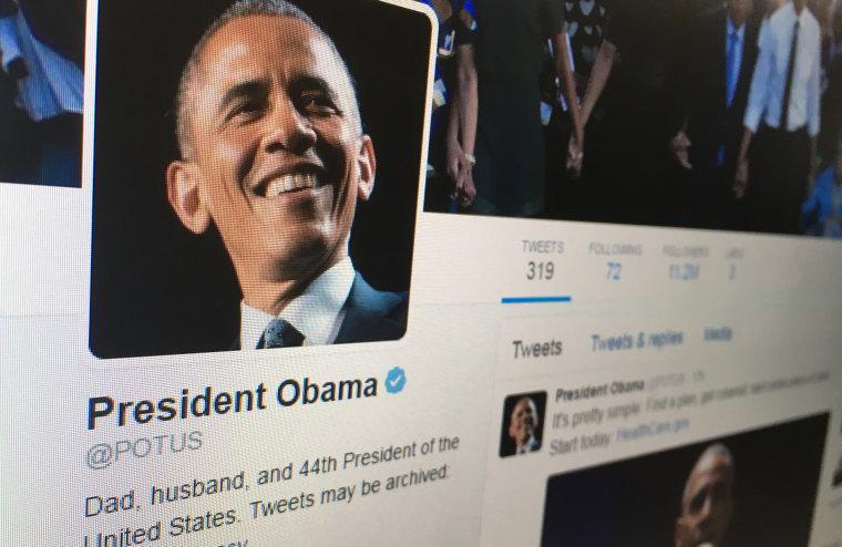 President Obama's Twitter account