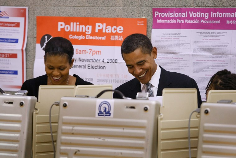 Image: Barack Obama Casts His Vote For President