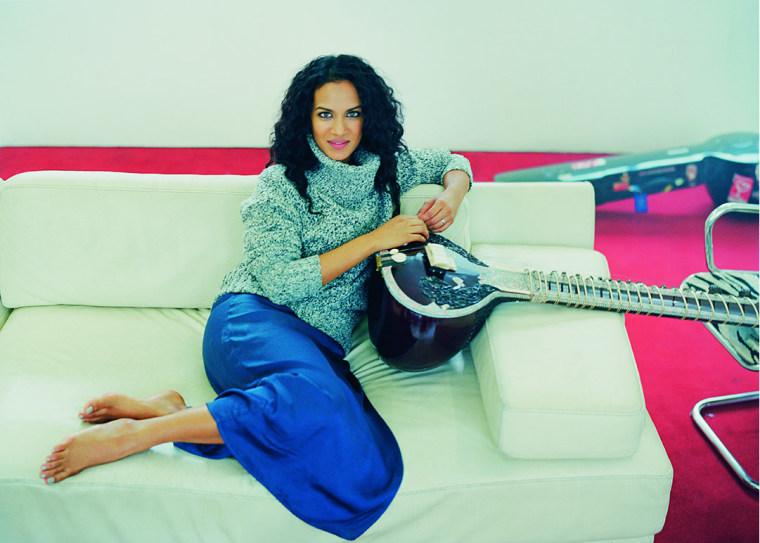 Anoushka Shankar in a photo provided by Deutsche Grammophon. Shankar made her debut with the New York Philharmonic this week, playing a concerto by her father.