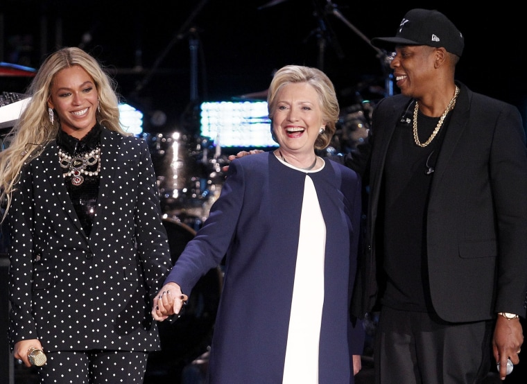 Image: Democratic presidential candidate Hillary Clinton at Get Out the Vote campaign concert in Cleveland, Ohio