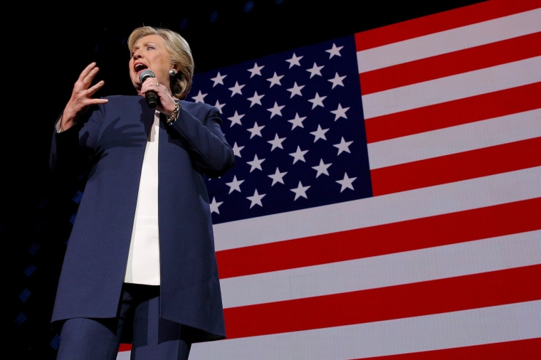 Image: U.S. Democratic presidential nominee Hillary Clinton speaks at a campaign concert featuring Jay Z and Beyonce in Cleveland
