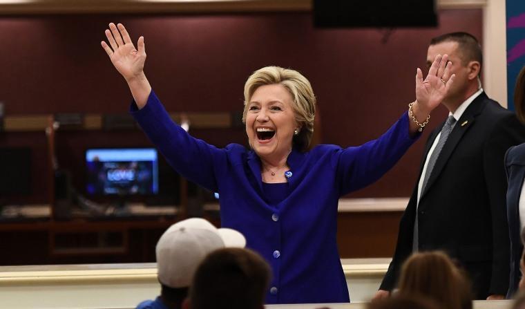 Image: Democratic presidential nominee Hillary Clinton