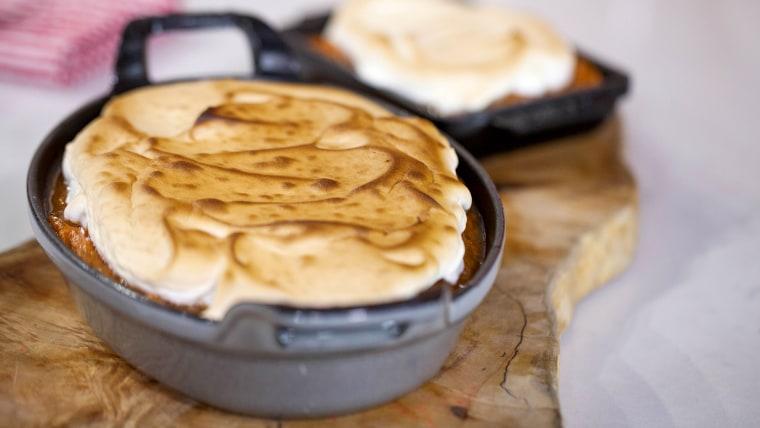 Sweet potato mash with a marshmallow cream