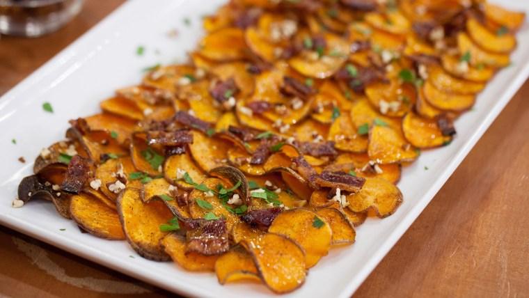Bacon Maple Pecan Sweet Potato Chips