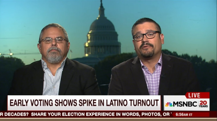 Matt Barreto and Gary Segura join Morning Joe to discuss the surge in Latino early voting.