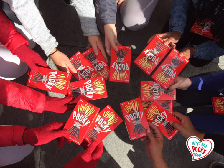 The Pocky truck has been visiting cities throughout the year giving away free boxes of Pocky