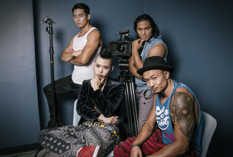 """It's Asian Men!"" cast Yoshi Sudarso, Cedric Jonathan, Bo Haan, and Randel Cuevas."