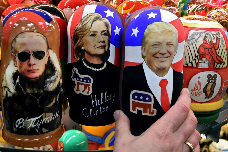 Image: Traditional Russian wooden nesting dolls in Moscow