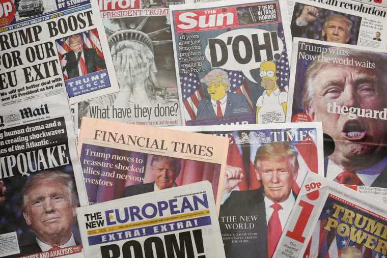 Image: British newspapers react to Trump's election