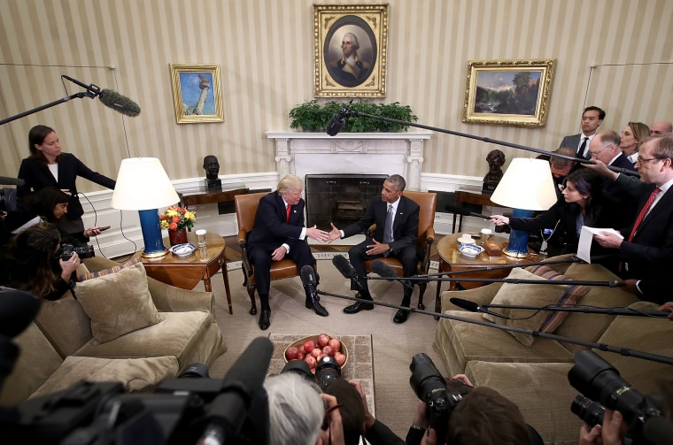 Image: President Obama Meets With President-Elect Donald Trump In The Oval Office Of White House