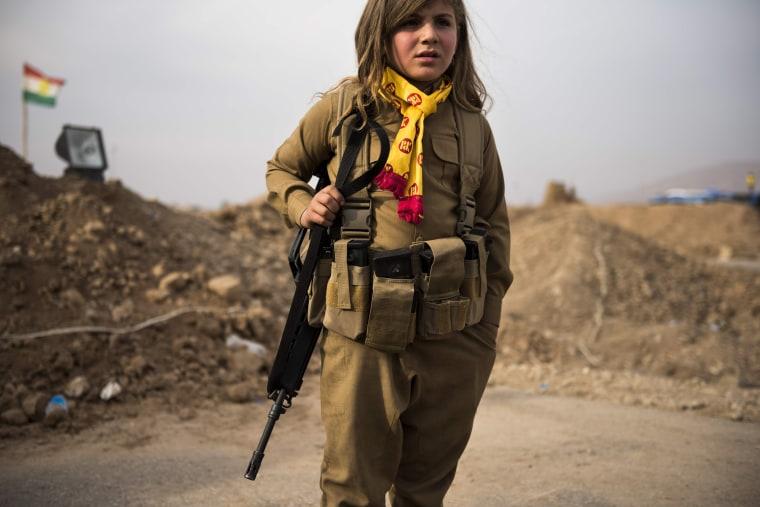 Image: TOPSHOT-IRAQ-CONFLICT-KURDS-BORDER
