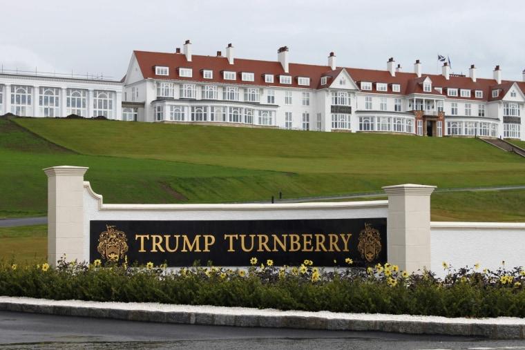 Image: Hotel at Trump Turnberry golf resort in Scotland