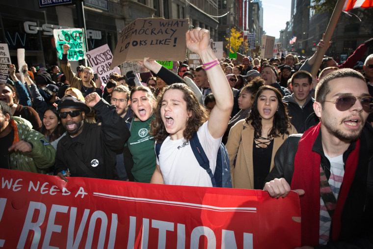 Image: Trump protest in New York
