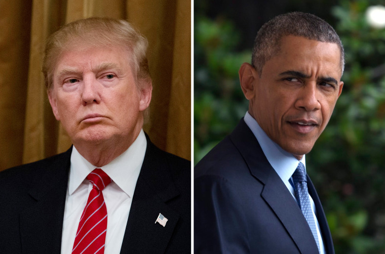 Image: Donald Trump; Barack Obama