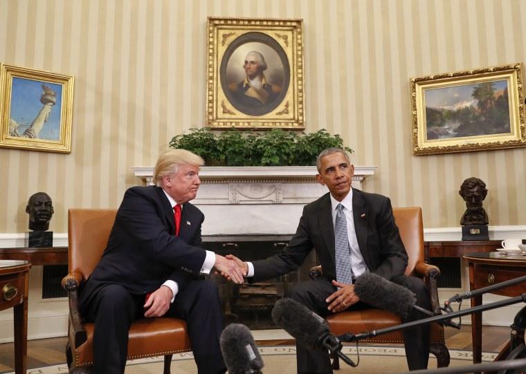 Image: Barack Obama, Donald Trump