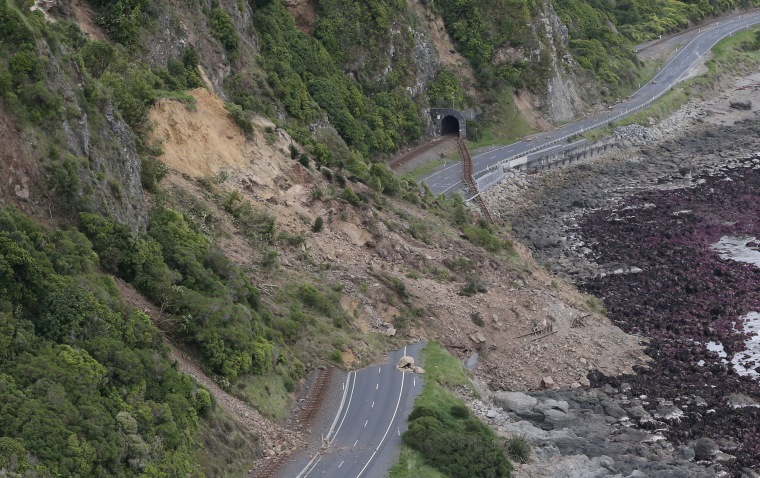 Image: Residents Survey Damage Following 7.5 Magnitude Earthquake In New Zealand