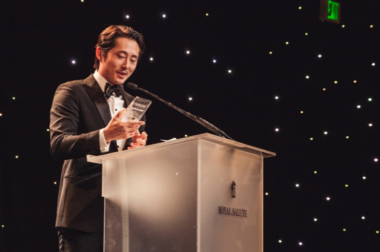 """2015's Actor of the Year, Steve Yeun, at Kore Asian Media's """"Unforgettable Gala."""""""