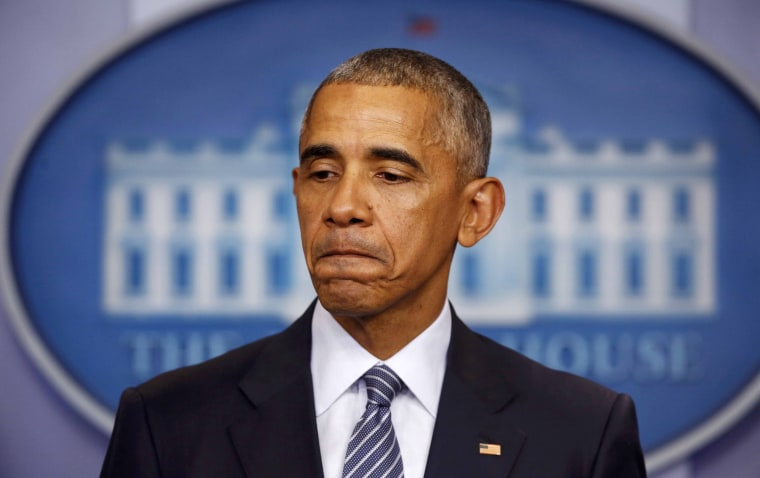 Image: US President Barack Obama participates in news conference at the White House in Washington