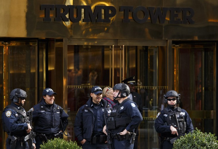 Image: Security at Trump Tower