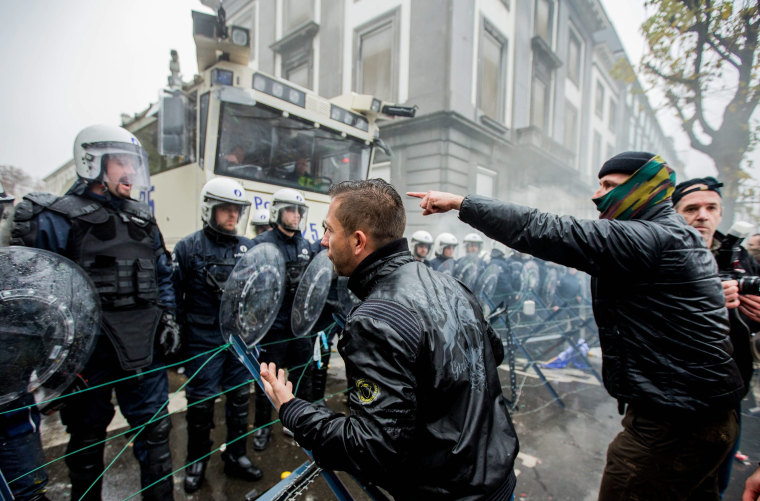 Image: Military personnel protest in Brussels