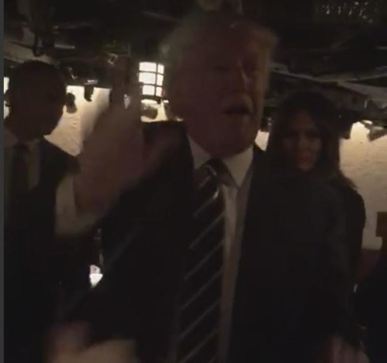 Donald Trump at the 21 Club in Manhattan, N.Y. on Nov. 15, 2016.