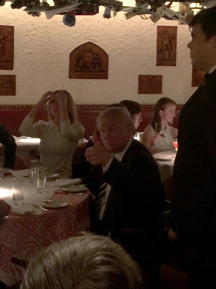 Donald Trump at the 21 Club in Manhattan, N.Y., on Nov. 15, 2016.