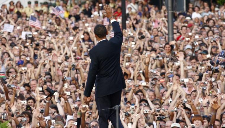 Image: Barack Obama in Berlin in 2008