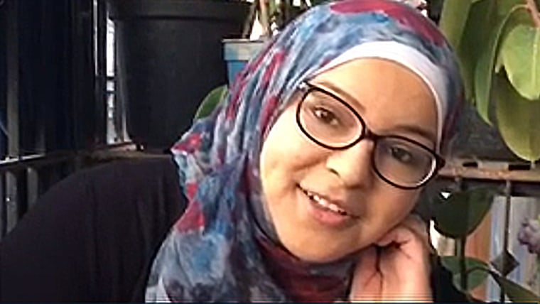 Image: Zein records her video diary in eastern Aleppo