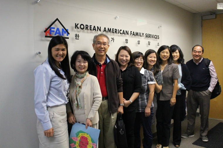 Faith leaders at a domestic violence training hosted by Korean American Family Services.