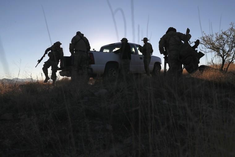Image: American Civilian Paramilitaries Patrol U.S.-Mexican Border