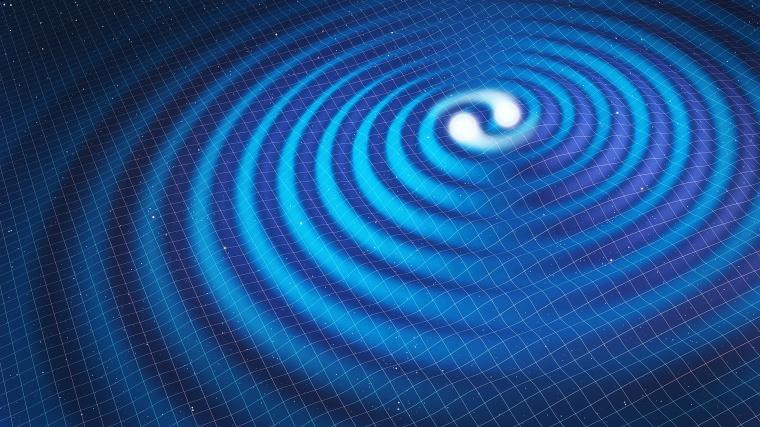 Conceptual image of gravtitational waves