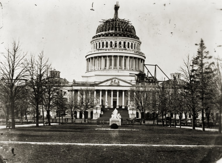 U. S. Capitol With Unfinished Dome