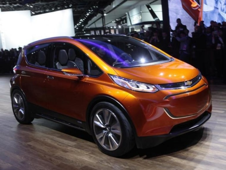 The Chevrolet Bolt Ev Electric Concept Car Is Unveiled During First Press Preview Day Of