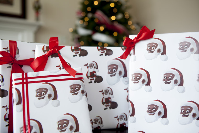 New Wrapping Paper Features Black Santa