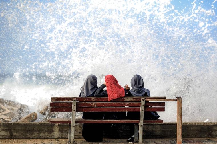 Image: TOPSHOT-PALESTINIAN-GAZA-WOMEN