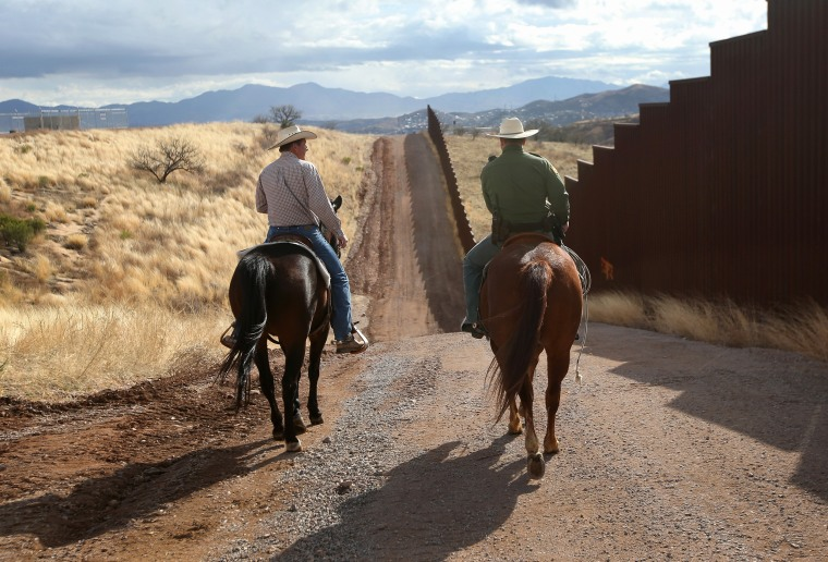 "Image: U.S. Border Patrol ""Ranch Liaisons"" Meet With Arizona Ranchers to Discuss Border Issues"