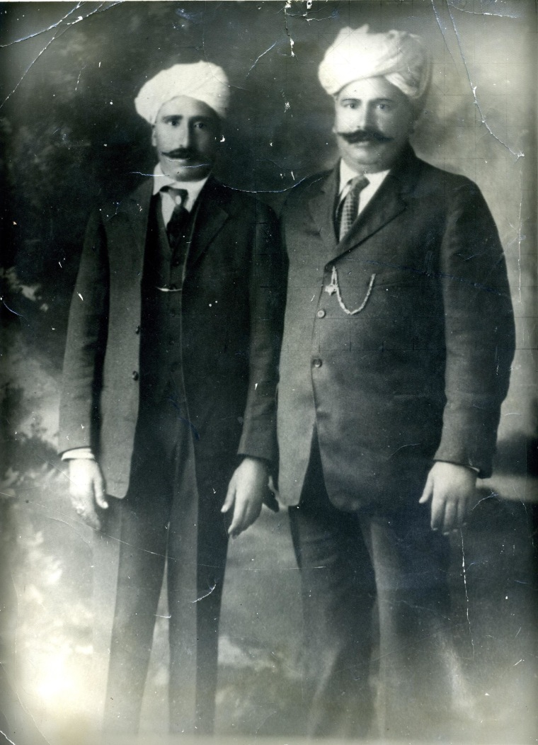 One of the early Punjabi pioneers to California, Nand Singh Johl, pictured here with his brother.