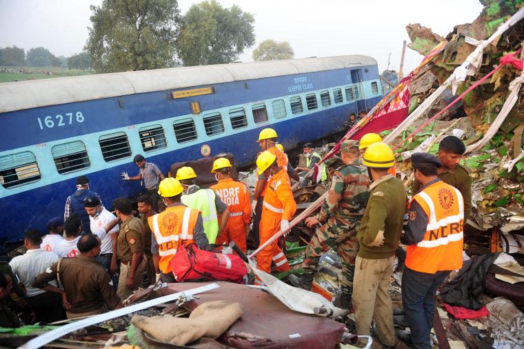 Image: INDIA-TRAIN-ACCIDENT