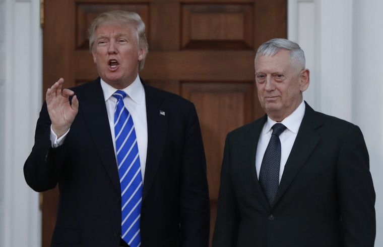 Image: President-elect Donald Trump with retired Marine Corps Gen. James Mattis